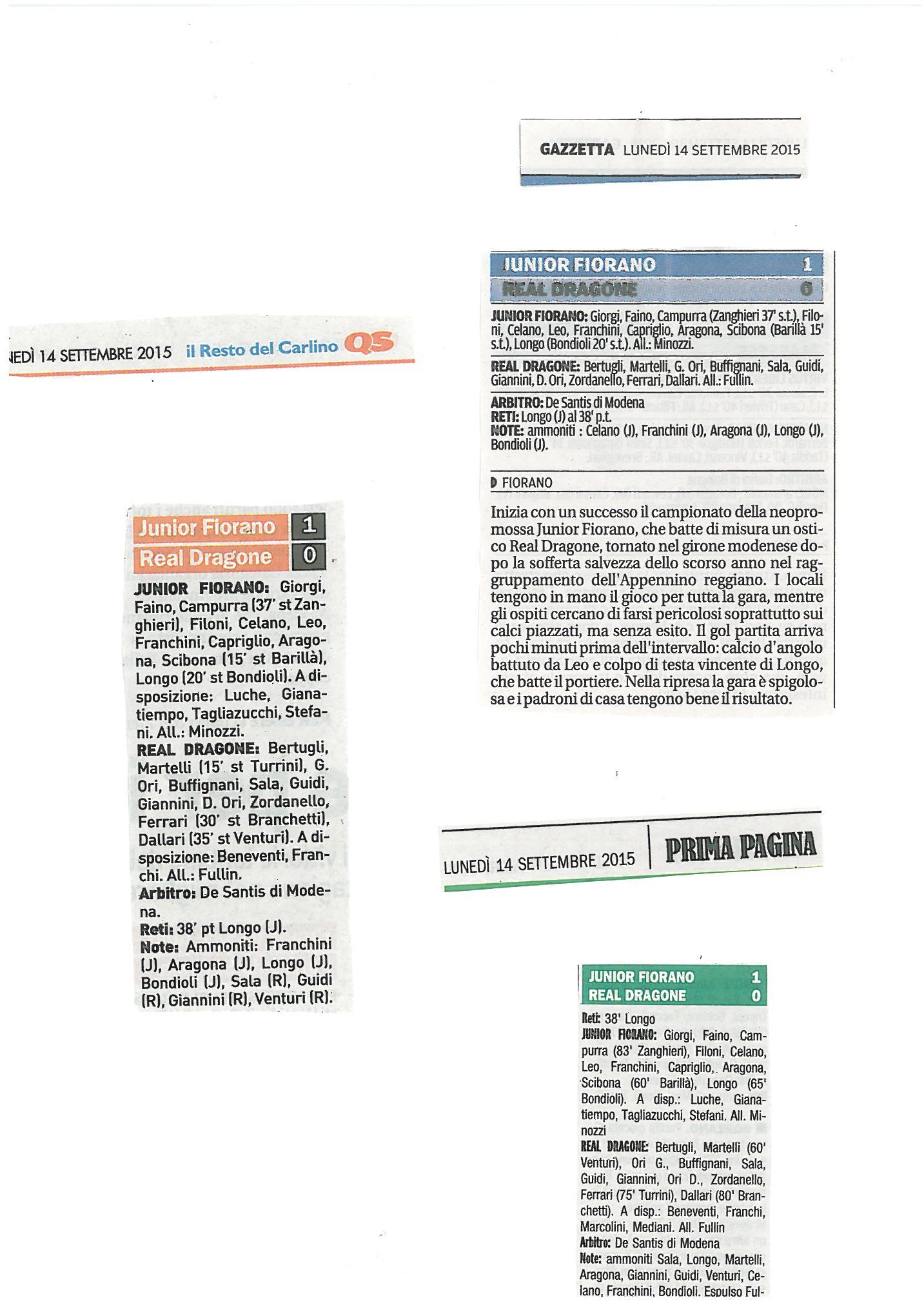 Rassegna Stampa 14 Settembre (JUNIOR)