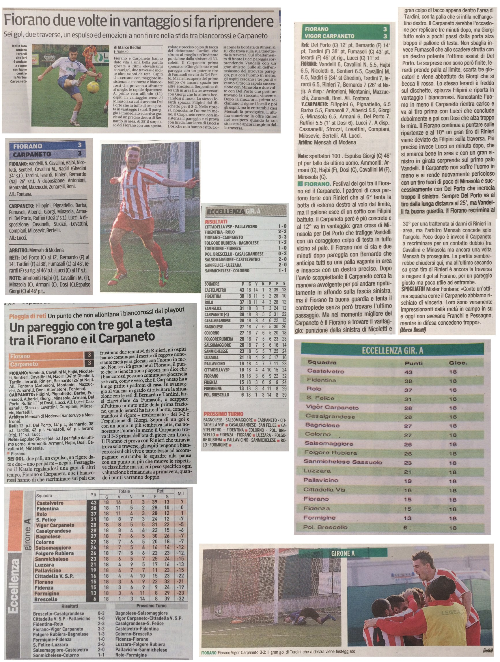 Rassegna Stampa 21 Dicembre 2015 - AC Fiorano
